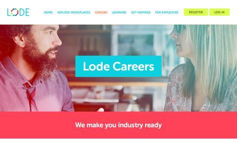 Screenshot of Jobs Page lode.com.au - Careers - Lode - captured Dec. 12, 2015