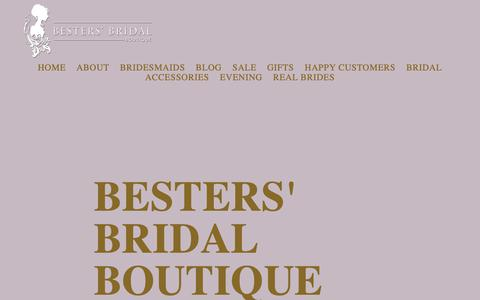 Screenshot of Blog bestersbridalboutique.com - Besters' Bridal Boutique - captured Oct. 23, 2018