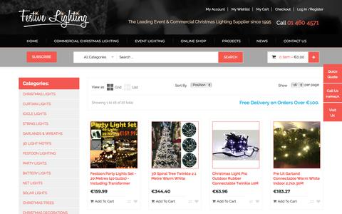 Screenshot of Products Page festivelighting.ie - Online Shop for Christmas Decoration - captured Feb. 2, 2018