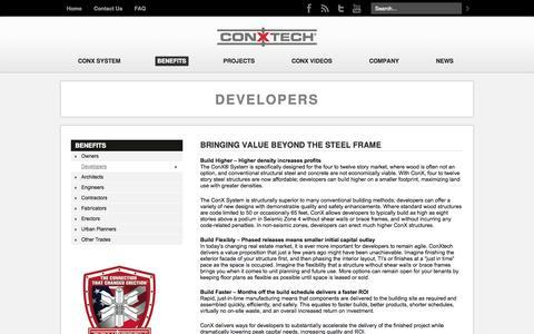 Screenshot of Developers Page conxtech.com - Developers – ConXtech - captured Sept. 13, 2014