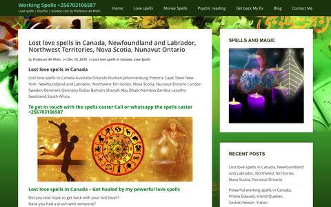 Screenshot of Blog kimlostlovespells.com - Powerful working spells - captured Jan. 30, 2017