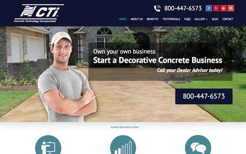 Screenshot of Home Page flycti.com - Starting a Concrete Business - Easiest Business to Start - captured Sept. 18, 2015