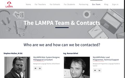Screenshot of Team Page mylampa.com - Our team and contacts – MyLAMPA - captured July 7, 2017