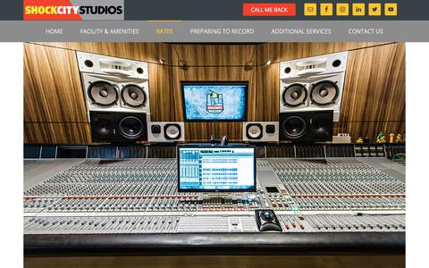 Screenshot of Pricing Page shockcitystudios.com - Shock City Studios | Pricing | St. Louis Recording Studio - captured Sept. 20, 2018