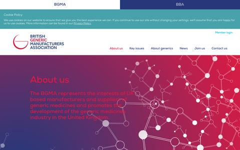 Screenshot of About Page britishgenerics.co.uk - BGMA - About us - captured Nov. 13, 2018
