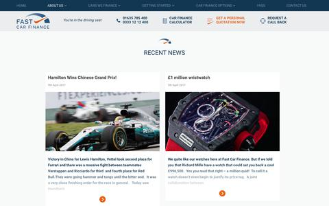 Screenshot of Press Page fast-car-finance.co.uk - News Archives - Fast Car Finance - captured June 5, 2017