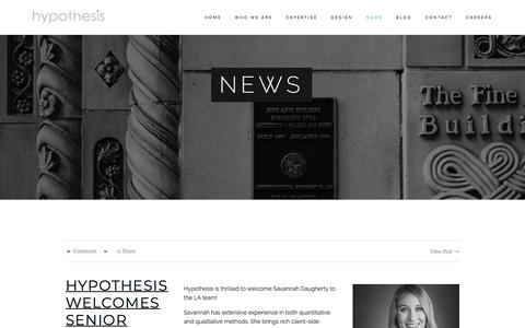 News — Hypothesis Group