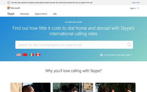 Call international phone numbers directly using Skype