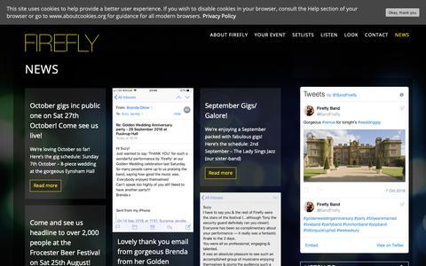 Screenshot of Press Page fireflyband.co.uk - FIREFLY Band | News - FIREFLY Band - captured Oct. 10, 2018