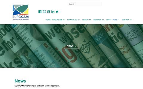 Screenshot of Press Page cam-europe.eu - News - Eurocam - captured Nov. 29, 2018