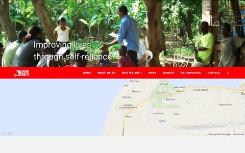 Screenshot of Home Page sustain-haiti.org - Sustain Haiti   Sustainable Self-Reliance - captured Aug. 14, 2015