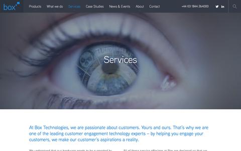 Screenshot of Services Page boxtechnologies.com - Services |  Box Technologies - captured Oct. 11, 2017