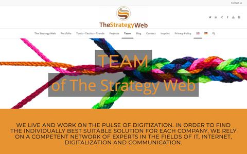 Screenshot of Team Page thestrategyweb.com - Team The Strategy Web - captured Sept. 22, 2018