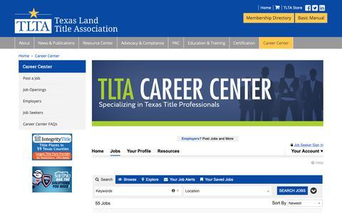 Screenshot of Jobs Page tlta.com - Jobs | TLTA Career Center - captured Oct. 20, 2018