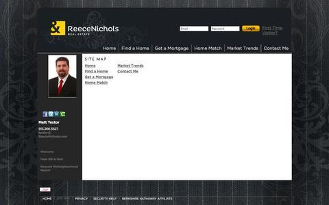 Screenshot of Site Map Page reeceandnichols.com - Site Map | Team Textor - captured Sept. 19, 2014