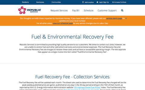 Fee Disclosures | Republic Services