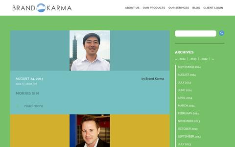 Screenshot of Team Page brand-karma.com - Staff Archive | - captured Sept. 22, 2014