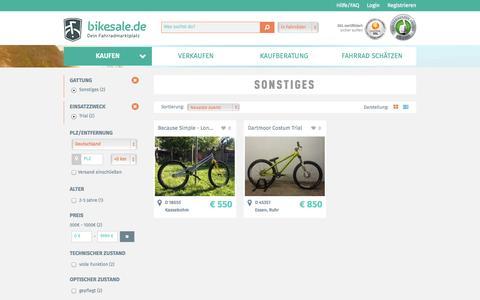 Screenshot of Trial Page bikesale.de - Sonstiges - Fahrrad suchen - bikesale.de - Dein Fahrradmarktplatz - captured Nov. 3, 2014