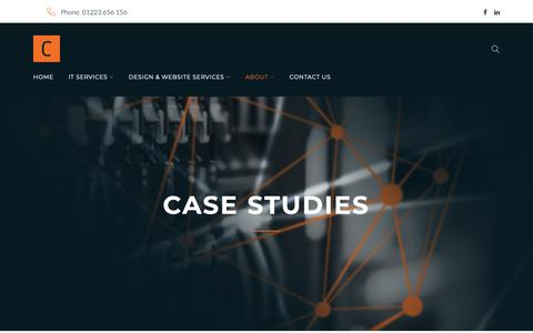 Screenshot of Case Studies Page cambition.co.uk - Case Studies - Cambition - captured Oct. 1, 2018