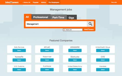 Screenshot of Team Page jobs2careers.com - Management Jobs (Hiring) | Jobs2Careers - captured March 20, 2016