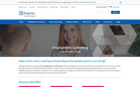 Pre Employment Screening | Experian UK