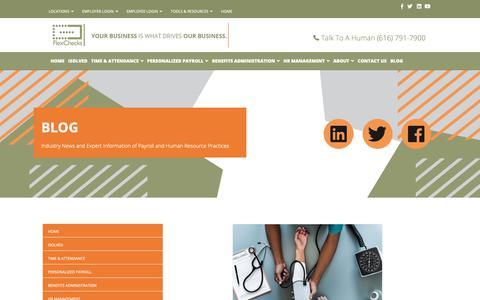 Screenshot of Blog flexchecks.com - Blog - Flex Checks - captured Dec. 19, 2018