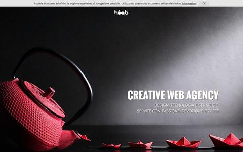 Screenshot of Home Page hoob.it - Web Agency e servizi pubblicitari in Campania a Benevento - captured July 24, 2015