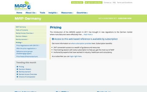Screenshot of Pricing Page mapbiopharma.com - Pricing - MAP BioPharma Germany - captured Nov. 19, 2016