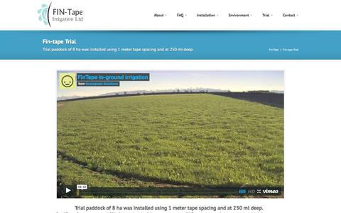 Screenshot of Trial Page fin-tape.com - Fin-Tape » Fin-tape Trial - captured Oct. 27, 2014