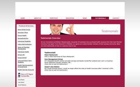Screenshot of Testimonials Page citrust.com - Testimonials Overview - captured Sept. 27, 2018