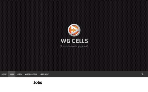 Screenshot of Jobs Page dropforge.com - Jobs | Wg Cells - captured Nov. 24, 2016