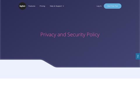 Screenshot of Privacy Page bugherd.com - Privacy - captured Nov. 16, 2018