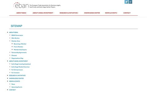 Screenshot of Site Map Page eban.org - EBAN - captured Oct. 31, 2014