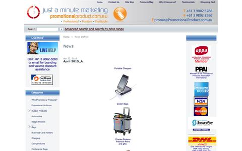 Screenshot of Press Page promotionalproduct.com.au - Promotional Product: Christmas Promotional Products, Promotional Gift, Promotional Campaigns - captured March 13, 2016