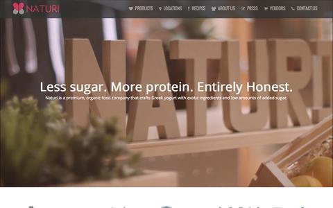 Screenshot of Home Page naturi.com - Naturi - captured Jan. 10, 2016