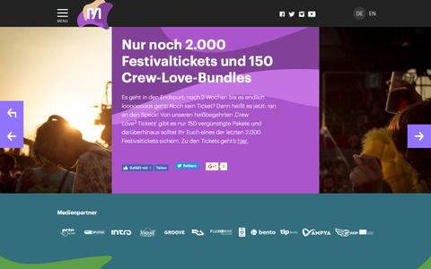 Screenshot of Press Page meltfestival.de - Nur noch 2.000 Festivaltickets und 150 Crew-Love-Bundles - Melt! Festival | 15. - 17. Juli 2016 - captured July 21, 2016
