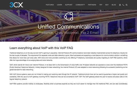 Screenshot of FAQ Page 3cx.com - VoIP FAQ - captured Aug. 22, 2018