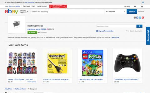 Screenshot of About Page ebay.co.uk - Items in Mayflower Stores shop on eBay. - captured Oct. 17, 2017