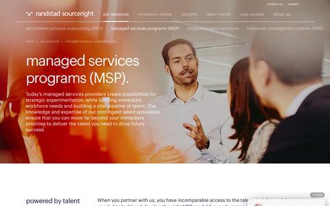 Global Managed Services Programs & MSP Staffing Solutions | Randstad Sourceright