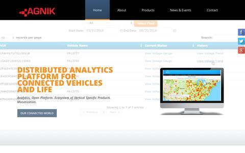 Screenshot of Home Page agnik.com - Agnik - captured Nov. 20, 2016