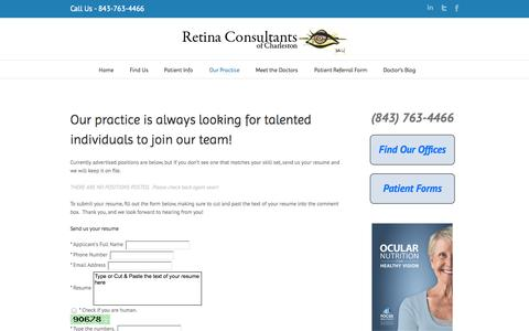 Medical Jobs Charleston - Retina Consultants of Charleston