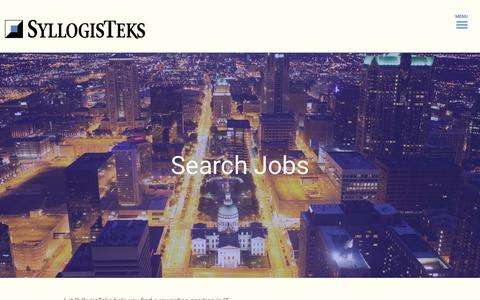 Screenshot of Jobs Page syllogisteks.com - Search Jobs | SyllogisTeks - captured Nov. 17, 2015