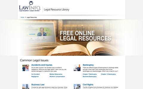 Free Legal Resources | The Law Explained | LawInfo