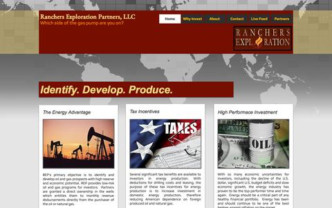 Screenshot of Home Page ranchers.co - Ranchers Exploration Partners LLC - captured Oct. 7, 2014