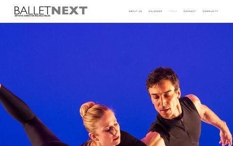 Screenshot of Press Page balletnext.com - Press — BalletNext - captured Oct. 29, 2014