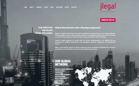 Screenshot of About Page jlegal.com - JLegal - ABOUT US - captured Oct. 4, 2014