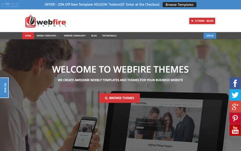 Screenshot of Home Page webfirethemes.com - Awesome Weebly Themes and Weebly Templates | Webfire Themes - captured Aug. 5, 2015