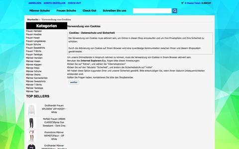 Screenshot of Login Page mfg-karten.ch - Verwendung von Cookies : www.mfg-karten.ch - captured Jan. 27, 2017