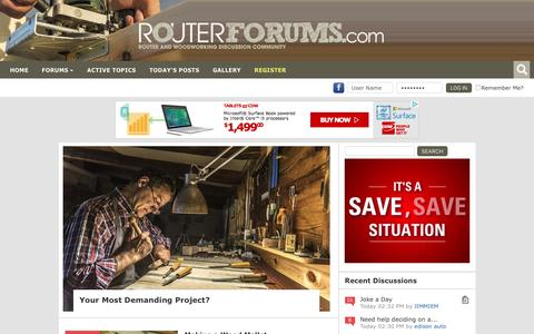 Screenshot of Home Page routerforums.com - Router Forums - captured Jan. 15, 2016