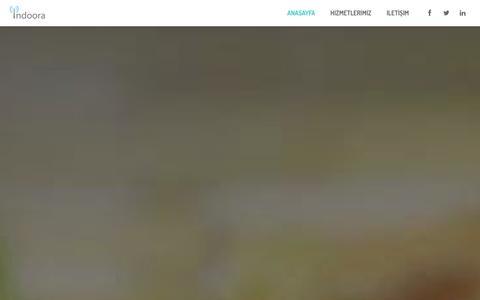 Screenshot of Home Page indoora.com - Indoora - WiFi konumlama çözümleri - captured Sept. 30, 2014